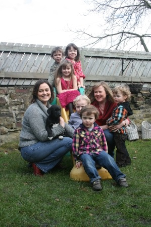 Jenny and Liz with the children
